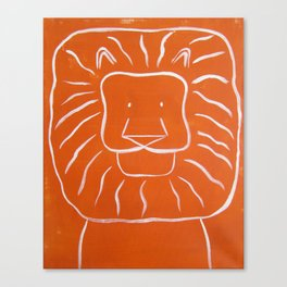 "No. 003 - Original Painting - 16"" x 20"" - The Lion (Modern Kids & Nursery Art) Canvas Print"