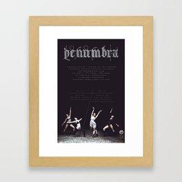 Penumbra Poster Design Framed Art Print