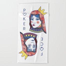 Poker Face Beach Towel