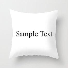 Sample Text Throw Pillow