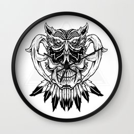 Owl on the top of hea Wall Clock