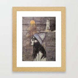 The sea at winter Framed Art Print