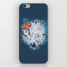 The princess and the wolf iPhone Skin