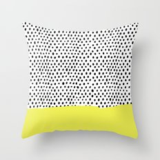 Polka dot rain dip Throw Pillow