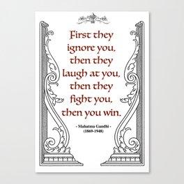 Mahatma Gandhi Aphorism, Words of Wisdom Canvas Print