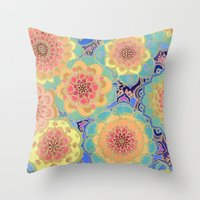 pen Throw Pillows featuring Obsession by micklyn