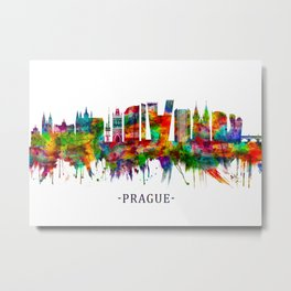 Prague Czech Republic Skyline Metal Print