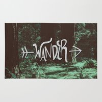 wander Area & Throw Rugs featuring Wander by Leah Flores