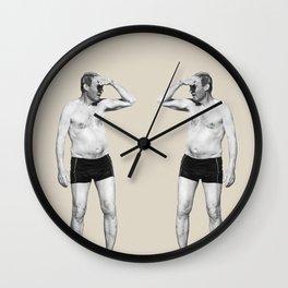 Old man looking at himself Wall Clock