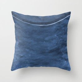 Cohesion Watercolor Print in Navy Blue Throw Pillow
