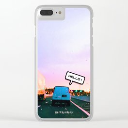 hello! Clear iPhone Case