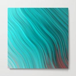stripes wave pattern 1 2sv Metal Print