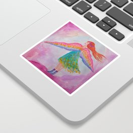 Rainbow Wings Sticker