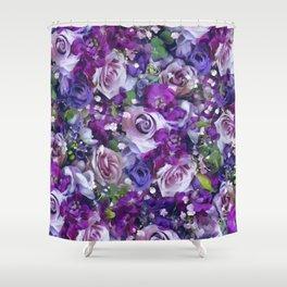 Romantic flowers III Shower Curtain
