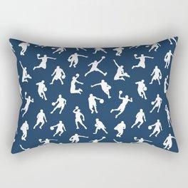Basketball Players // Navy Rectangular Pillow