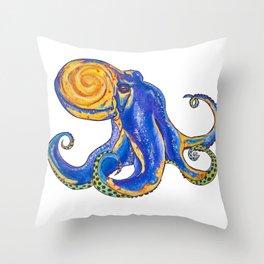 Galactapus Throw Pillow