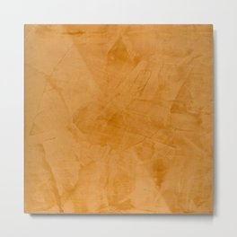 Dante Orange Stucco - Luxury - Rustic - Faux Finishes - Venetian Plaster Metal Print