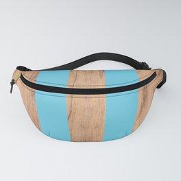Striped Wood Grain Design - Light Blue #807 Fanny Pack