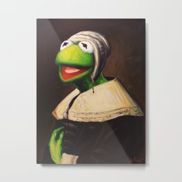 Portrait Of A Young Frog Metal Print