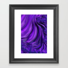 Purple Drapes Framed Art Print