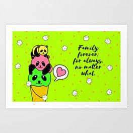 Family forever Art Print