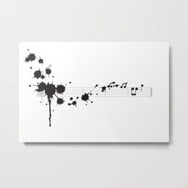 Splatter in D Minor Metal Print