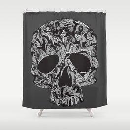 Sex kill you everyday (SKULL) Shower Curtain