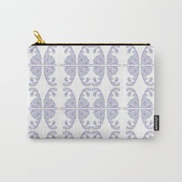 Blue Easter bunny and its eggs Carry-All Pouch