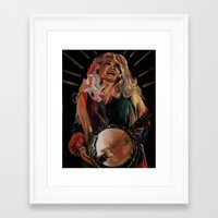 dolly parton Framed Art Prints featuring The Ecstasy of Dolly Parton by Caitlin Harper