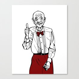 Waiter from Twin Peaks Canvas Print
