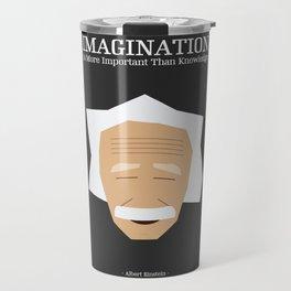 Lab No. 4 - Albert Einstein Inspirational Quotes Typography Poster Travel Mug