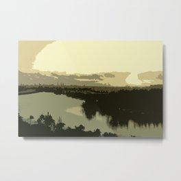 Miami Sunrise Abstract Metal Print