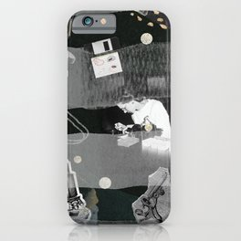 a woman's place is in the lab iPhone Case