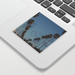 Bubbles & Palm Trees Sticker