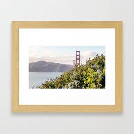 The Golden Gate Bridge in Spring Framed Art Print