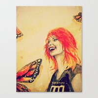 hayley williams Canvas Prints featuring Hayley Williams by Mary Agoncillo