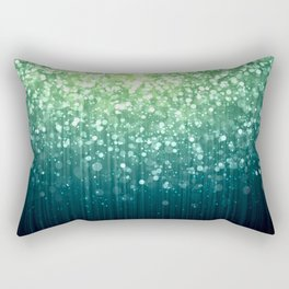 Spring Teal Green Sparkles Rectangular Pillow