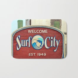 Welcome To Surf City Bath Mat