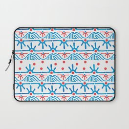 Aztec pattern in blue Laptop Sleeve