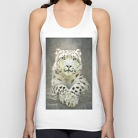 snow leopard Tank Tops featuring Snow Leopard by Pauline Fowler ( Polly470 )