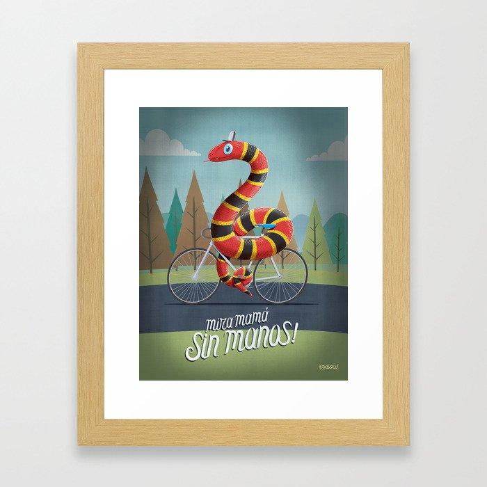sin manos Framed Art Print