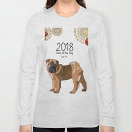 Year of the Dog Shar Pei Long Sleeve T-shirt