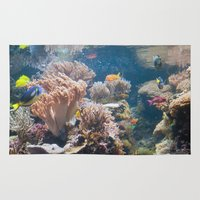 baltimore Area & Throw Rugs featuring Baltimore Aquarium Series 7 by Sarah Shanely Photography