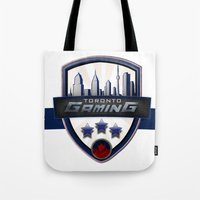 gaming Tote Bags featuring Toronto Gaming by rramrattan