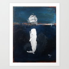 The White Whale Art Print