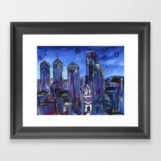Starry Philadelphia Framed Art Print