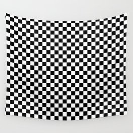 Classic Black and White Race Check Checkered Geometric Win Wall Tapestry