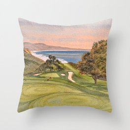 Torrey Pines South Golf Course Hole 6 Throw Pillow
