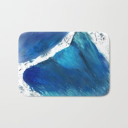 Wolf in the Wave Bath Mat