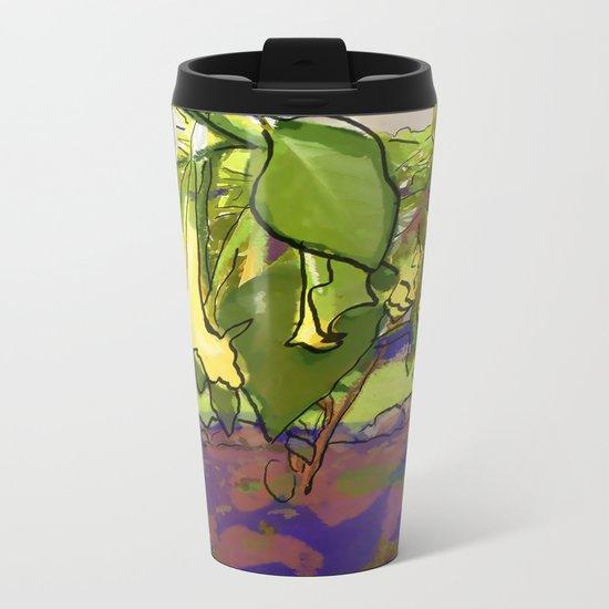 Healing Flowers Metal Travel Mug